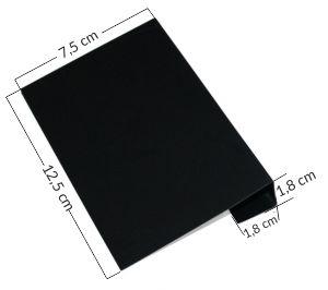 Tabliczki kredowe na kosz - czarne etykiety