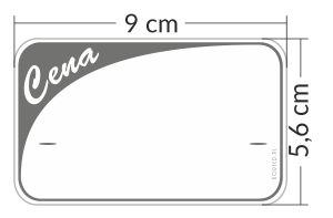 Etykiety cenowe plastikowe 9x5,6 cm