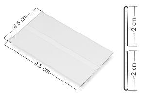 przezroczyste osłonki cenowe - kieszonka mieści etykietę 8,4 x 4,5 cm
