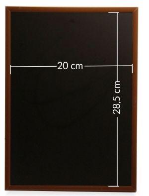 tablica kredowa w drewnianej ramce - do powieszenia i postawienia/ pion/poziom