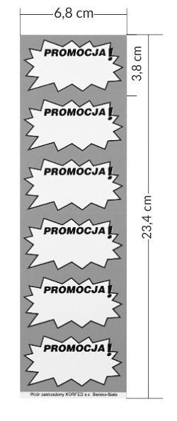 etykiety samoprzylepne promocja na pasku
