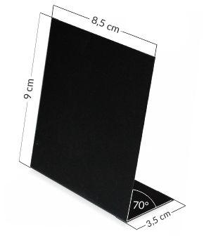 Stojaczki kredowe - z czarnego plastiku