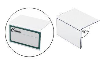 zawieszki - osłonki cenowe na półki - oprawki przezroczyste na pojedyncze etykiety