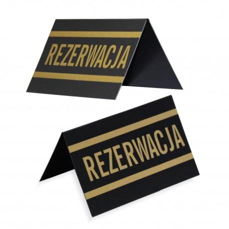 Stojak REZERWACJA - dwustronny