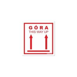 Naklejki GÓRA - THIS WAY UP  ! 8,5x8cm
