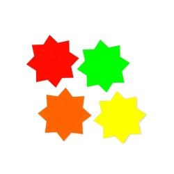 Gwiazdki samoprzylepne MIX-kolor (48 sztuk)