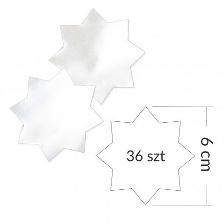 Gwiazdki samoprzylepne ZŁOTE/SREBRNE (36 sztuk)
