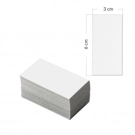 Etykiety kartonowe białe 6x3cm- 1000 sztuk