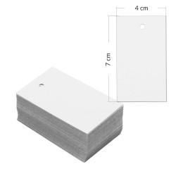 Etykiety kartonowe białe 7x4cm z dziurką- 1000 sztuk
