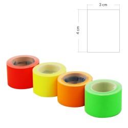 Etykiety samoprzylepne 3x4cm na rolce