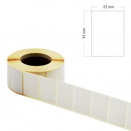 Etykiety samoprzylepne 3,5x2,5cm na rolce