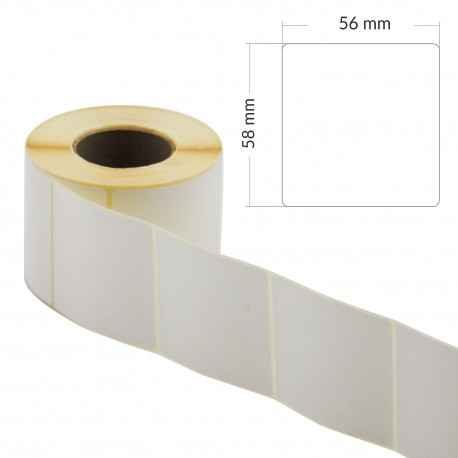 Etykiety samoprzylepne 5,8x5,6cm na rolce
