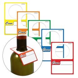 Cenówki kartonowe BUTELKOWE - 50 sztuk