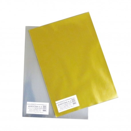 Etykiety samoprzylepne ZŁOTE/SREBRNE ~A4 (21x28,8cm) - 18 arkuszy