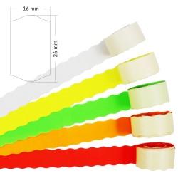 Taśmy do metkownic Meto 2 (26x16mm) - dwurzędowa, falowana