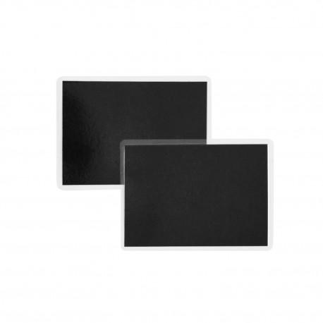 Cenówki laminowane A7 czarne - 11x8cm