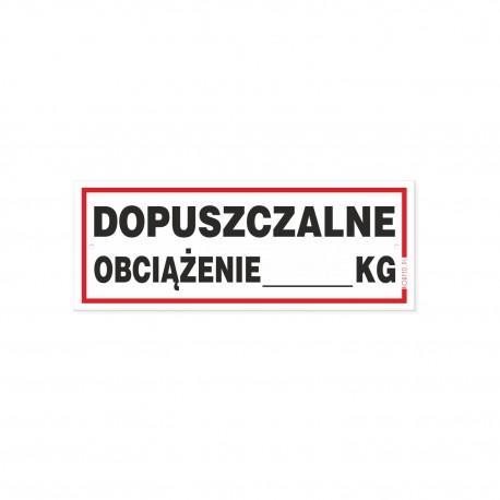 Dopuszczalne Obciążenie 21x8cm Tabliczki Korfed