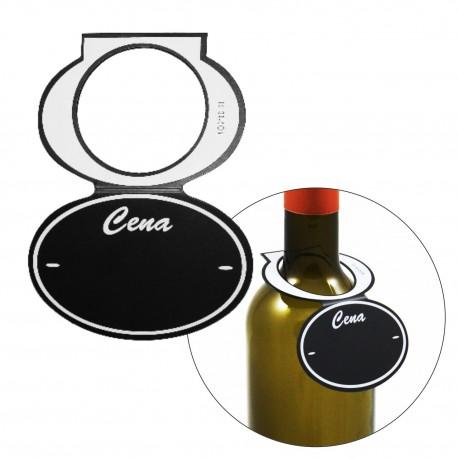 Etykiety kredowe na butelkę