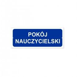 POKÓJ NAUCZYCIELSKI 21x8cm -tabliczki