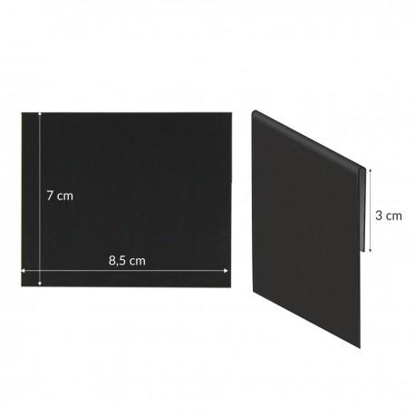 Etykiety kredowe z zakładką 8,5x7cm - nakładki