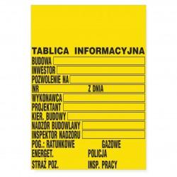 TABLICA INFORMACYJNA - BUDOWLANA
