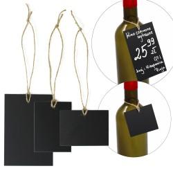 Etykiety kredowe prostokątne ze sznurkiem jutowym