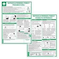 Instrukcje PIERWSZEJ POMOCY 35x25cm - tabliczki