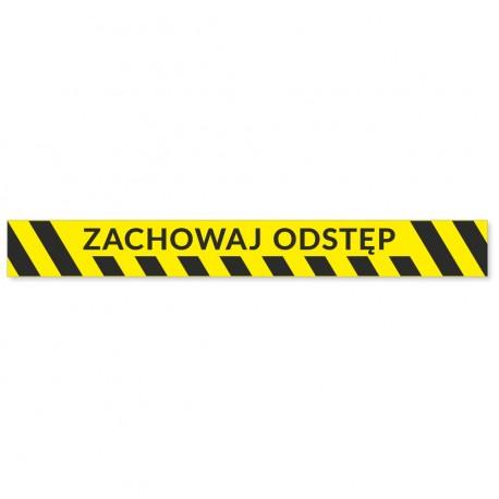 Naklejki ostrzegawcze - PASY - ZACHOWAJ ODSTĘP