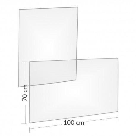 Przezroczyste osłony 100x70cm - poziome