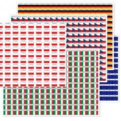 Naklejki - FLAGI - etykiety samoprzylepne na arkuszu
