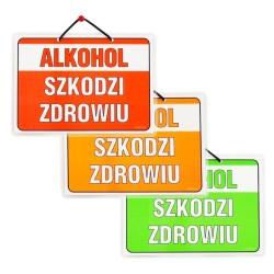Wywieszki laminowane ALKOHOL SZKODZI ZDROWIU