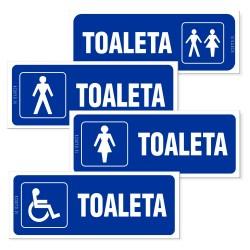 Oznakowanie TOALETA 21x8cm
