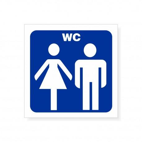 Oznakowanie WC 8x8cm - naklejki