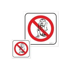 ZAKAZ WPROWADZANIA PSÓW -  przekreślony pies