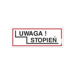 UWAGA STOPIEŃ 21x8cm