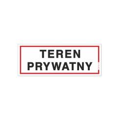 TEREN PRYWATNY 21x8cm