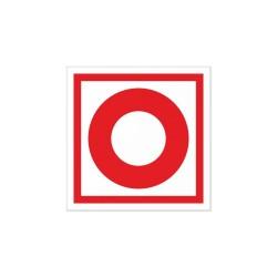 Znak PRZYCISK ALARMOWY (uruchamianie ręczne - ROP) 15x15cm
