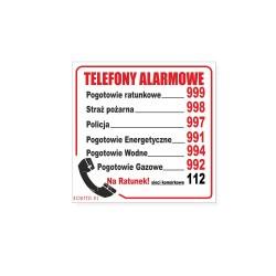 TELEFONY ALARMOWE 15x15cm