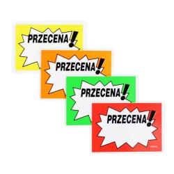 Cenówki laminowane PRZECENA A7 - 11x8cm