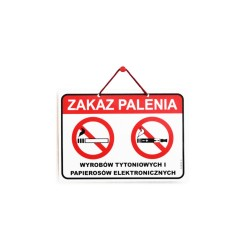 Wywieszki laminowane ZAKAZ PALENIA A5