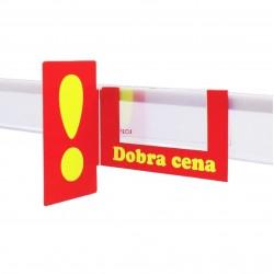 Shelfstopper DOBRA CENA z wykrzyknikiem