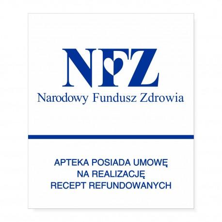 NFZ - APTEKA posiada umowę na realizację recept refundowanych 35x29,7cm