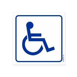 INWALIDA - oznakowanie niepełnosprawny 20x20cm