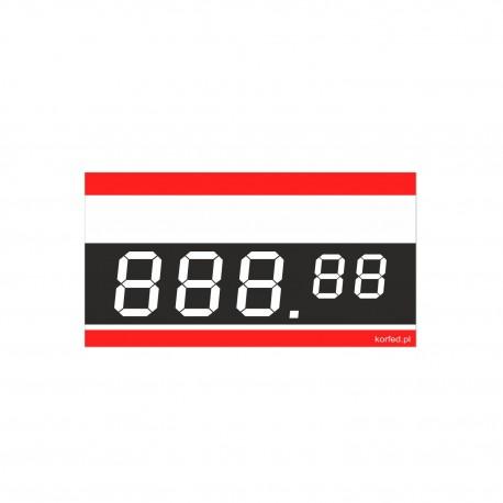 Cenówki kartonowe DIGITAL 6,8x4m- 100 sztuk