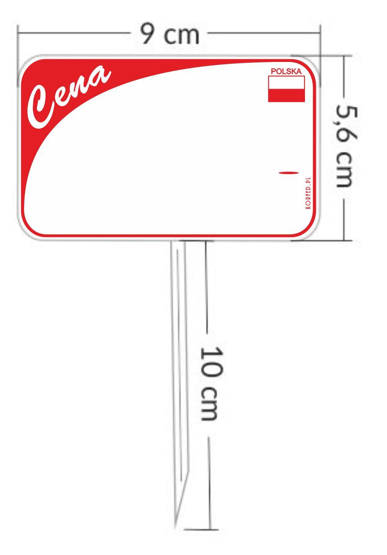 Cenówki - pikery z flagą Polski, Plastikowe etykiety do wbijania - szpila posiada Atest - przeznaczone do kontaktu z żywnością