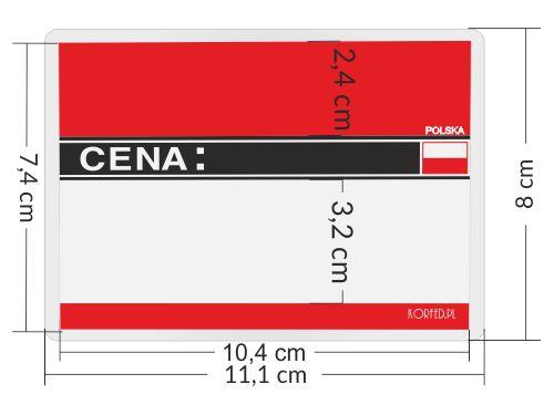 Cenówki etykiety laminowane z flagą - oznaczenie produkt polski