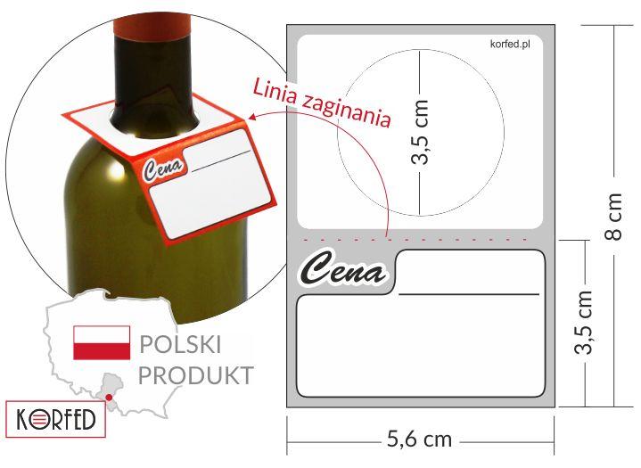 cenówki butelkowe - etykiety kartonowe na butelkę