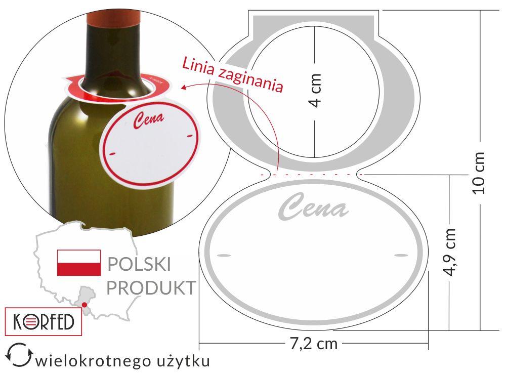 zawieszki cenowe na butelkę - cenówki / etykiety butelkowe plastikowe