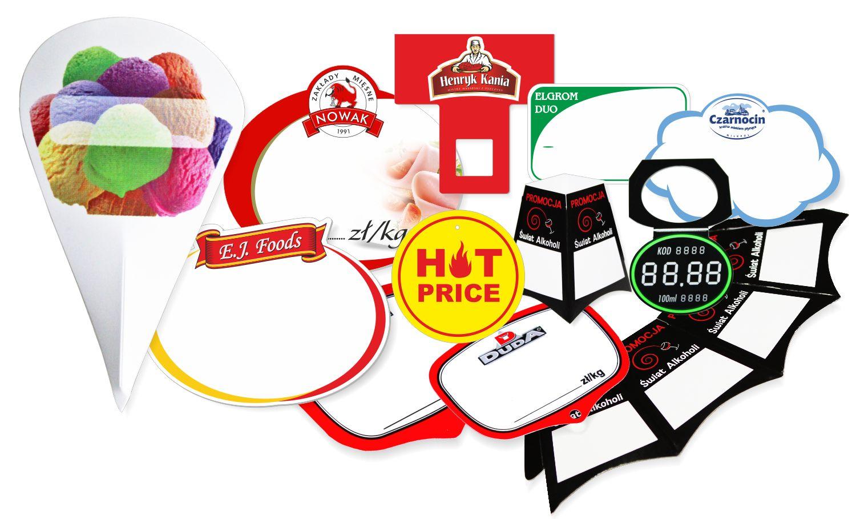 Materiały POS - cenówki z logo