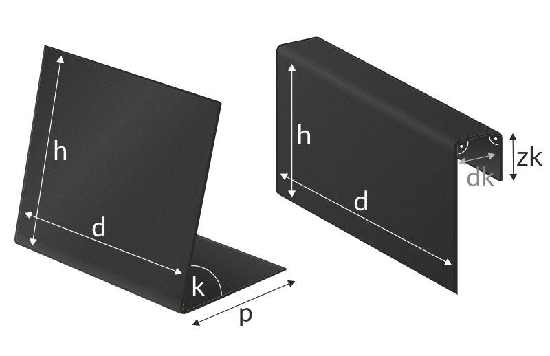 Czarne etykiety kredowe - stojaczki i zakładki na kosz na zamówienie